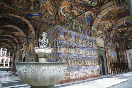 fountain rila monastery blagoevgrad bulgaria
