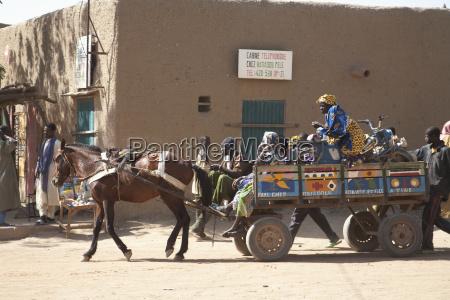 horse cart at the monday market