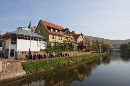 houses along the tauber river wertheim