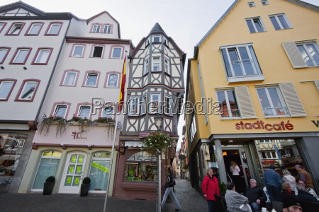 half timbered houses surrounding the market