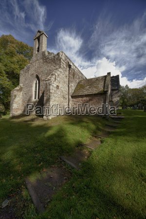 a stone church building northumberland england