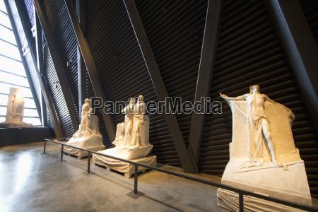 plaster models of walter allwards sculpture