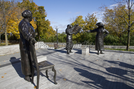 women are persons statue on parliament