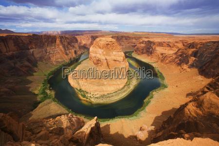 usa arizona landscape of horseshoe bend