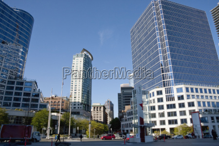 plaza between canada place and the