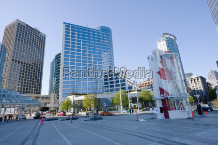 square between canada place and the