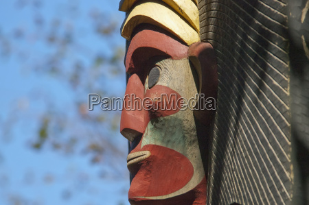 detail of coast salish house posts
