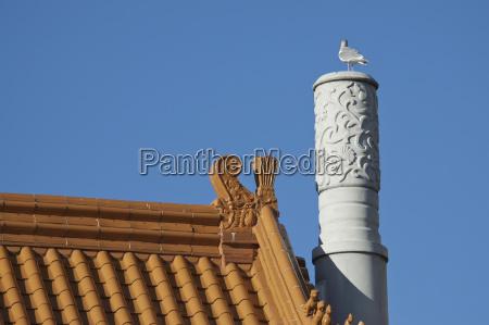 chinatown roof vancouver british columbia canada