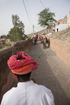 mahout elephant driver on his elephant