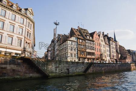 alsatian houses on the quai des