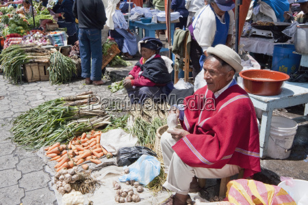 vendors at the saturday market otavalo