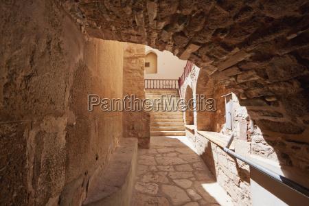 corridor in the holy monastery of