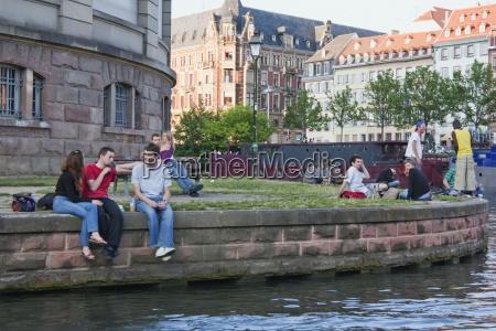 people sitting on the dock koch