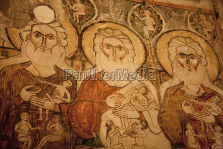 fresco of the three patriarchs in