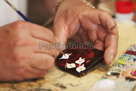 handwerker dekorieren lackware p