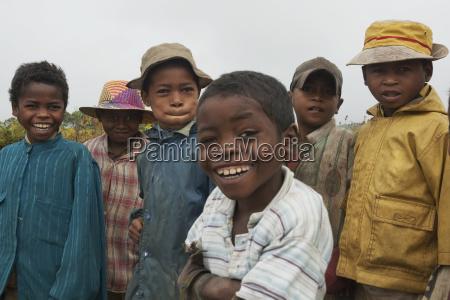 children in ranomafana fianarantsoa province madagascar