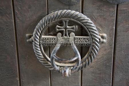 door knocker in the gracanica monastery