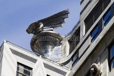 sculpture modeled after chrysler automobile radiator