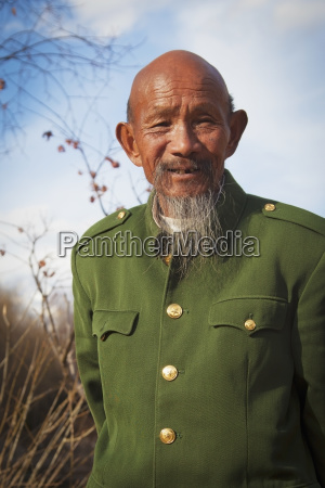 eighty year old chinese man with