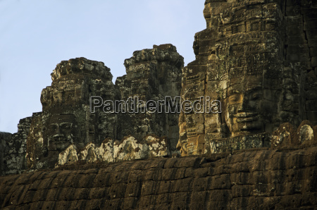 bayon temple angkor thom faces created