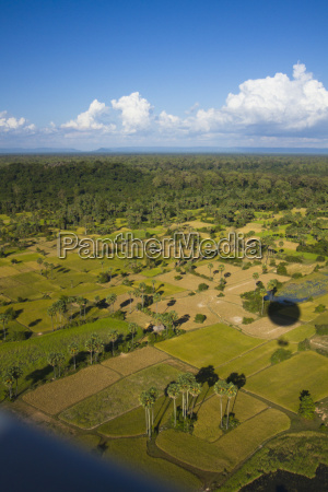 aerial views over the cambodian ruins
