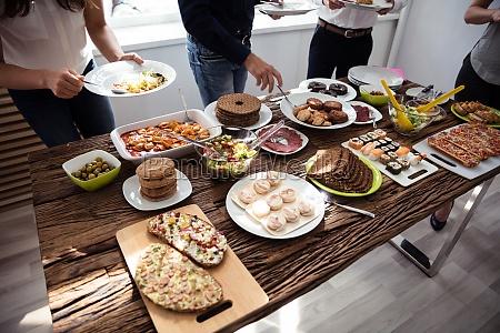 people eating healthy meal