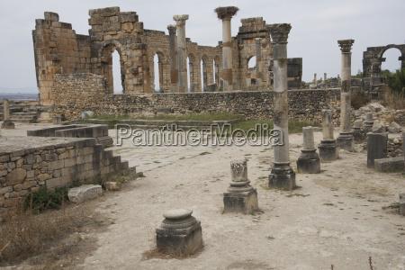 vista across the ruins incorporating roman