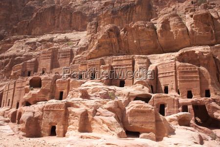 nabataean and roman tombs petra jordan