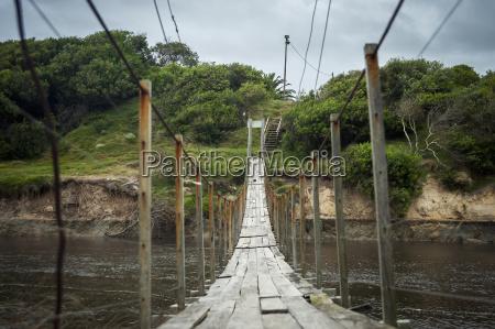 suspension bridge punta del diablo uruguay