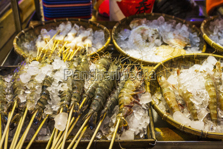 prawns for sale at the night