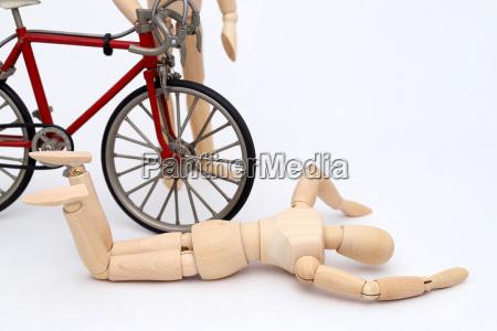 fahrrad und personenunfall unfall auf der