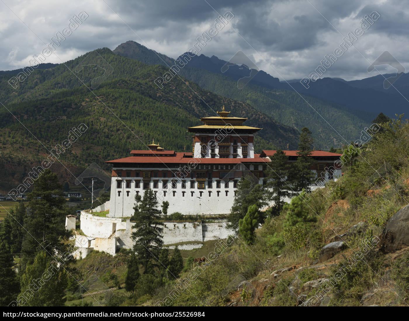rinpung, dzong, ist, ein, großer, dzong, buddhistisches - 25526984