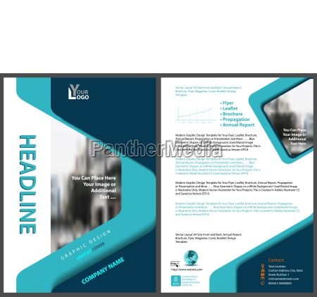 modern flyer template with geometric design