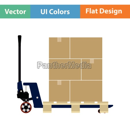 hand hydraulic pallet truc with boxes