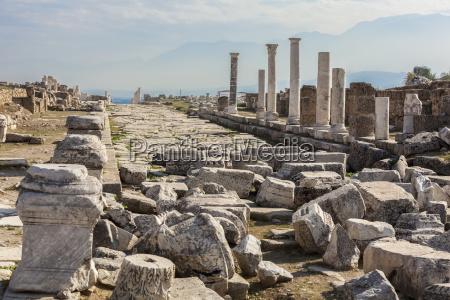 ruins of stone columns at a