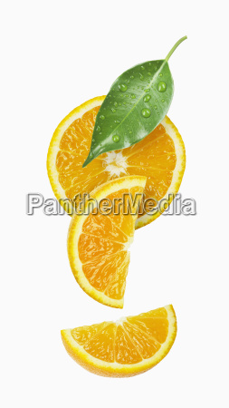 orange slice and wedges with a