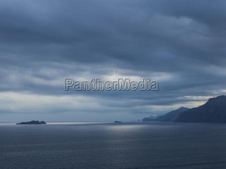 storm clouds over the amalfi coast