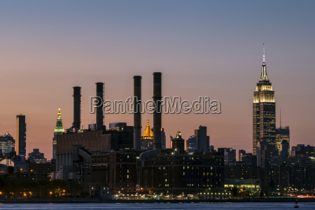 empire state building at sunset new