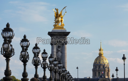 view of les invalides from pont