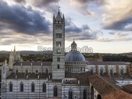 dome roof and striped tower of