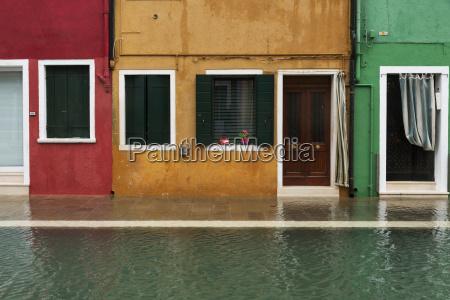 colourful houses along a canal venice