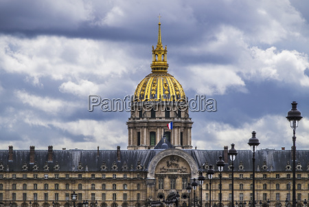 the north front of les invalides