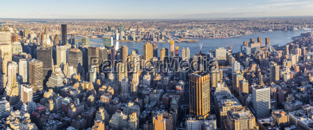 view of new york city from