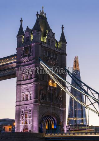 tower bridge and the shard london