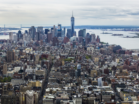 cityscape of new york city and