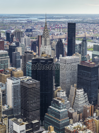 cityscape of new york city with