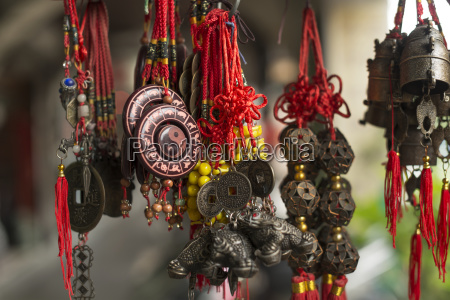 some traditional chinese ornaments in a