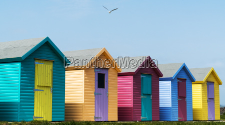 colourful buildings in a row with