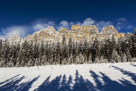 rugged snow covered mountain with snow