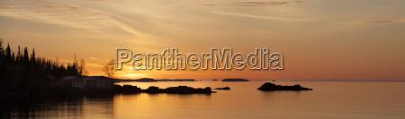 sunrise over lake superior ontario canada